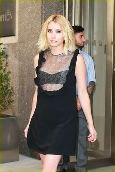 Emma Roberts | Tripp Dress | Late Night with Seth Meyers | Wai Ming