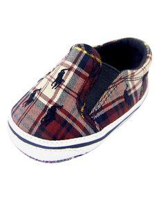 His & her Children'S Clothing Serafini Amelia|  Ralph Lauren Plaid Canvas Shoe