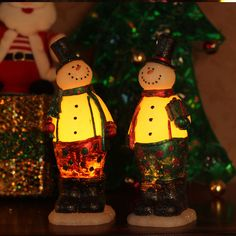 DFL Red and Green Scarf Christmas Snowmans led Candles with Timer Christmas Gift | eBay