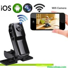Mini Wifi Camera Motion Detection DVR Camcorder Sport Video Recorder IP Cam for Windows iOS Android System Surveillance. A water-resistant casing that allows you to film fascinating water sports; Wireless Ip Camera, Dvr Camera, Mini Camera, Video Camera, Camera Lens, Smartphone, Ios, Camcorder, Android