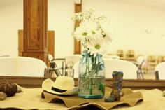 western party centerpiece ideas | Western cowboy baby shower centerpiece | Party Ideas! | Pinterest