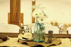western party centerpiece ideas | Western cowboy baby shower centerpiece | Party Ideas! | Pinterest