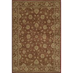Preston Kashan Red Rug (5'3 x 7'6) | Overstock.com Shopping - Great Deals on 5x8 - 6x9 Rugs