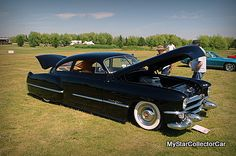 This may be the coolest '49 Caddy on the planet-here's the full story: '49 Caddy custom-if you read one great '49 Cadillac custom story today-make it this one: http://www.mystarcollectorcar.com/2-features/stories/2643-april-2015-1949-caddy-this-old-school-custom-ride-is-a-knockout-at-every-show.html #49Caddy #custom