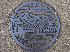 Ino Kochi, manhole cover (高知県伊野町のマンホール)   Flickr - Photo Sharing!