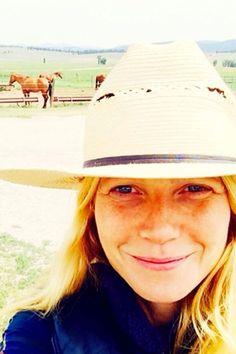 <p>Gwyneth Paltrow snaps a natural selfieJuly 25, 2014.</p>
