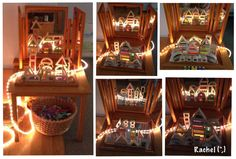 "rope light, mirrors & rainbow blocks - from Rachel ("",)"