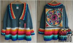 Crochet Coat, Crochet Cardigan Pattern, Crochet Jacket, Crochet Clothes, Crochet Patterns, Hippie Crochet, Freeform Crochet, Clothes For Women, Knitting