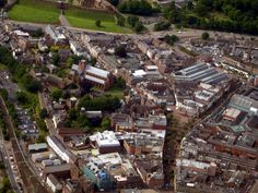 Aerial view of Carlisle Cathedral, Cumbria, England Carlisle England, Carlisle Cumbria, You Are The World, Lake District, Aerial View, Great Britain, Countryside, Paris Skyline, City Photo