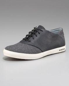 Oxford Saddle Sneakers.  Seavees.
