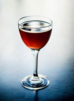A riff on the Brooklyn cocktail recipe—itself a riff on the Manhattan—the Bushwick combines rye and sweet vermouth with Luxardo maraschino liqueur and Amer Picon, a bitter orange liqueur. Rye Drinks, Whiskey Cocktails, Fun Cocktails, Cocktail Drinks, Cocktail Recipes, Drink Recipes, Bourbon Drinks, Health Recipes, Brooklyn Cocktail Recipe