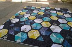 """""""This is a larger version of my Honey pattern from Modern Patchwork"""" Oh, Fransson. Pretty colors."""