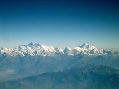 Incredible Airplane Window Views: Mount Everest and Makalu, Nepal