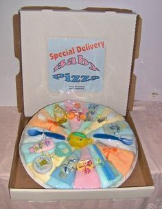 Diaper Pizza Pastel / Baby Shower Gift Idea / Easy Craft Idea / Homemade / Diaper Cake