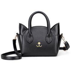 0b2c9530235  Visit to Buy  Womens Hand Bags Small Cute Cat Messenger Bag Luxury Handbags  Women Leather Bags Ladies Black Famous Brands Designer Pink Bag