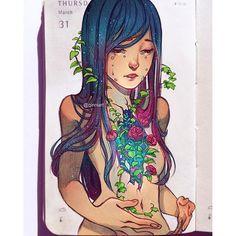 Ellihana Grey by qinni art Art And Illustration, Illustrations, Amazing Drawings, Amazing Art, Art Drawings, Manga Anime, Anime Art, Qinni, Street Art