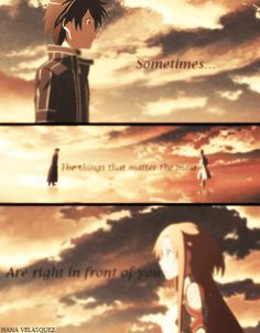 Right in front of you - Sword Art Online ~ DarksideAnime
