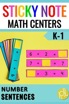 Just add sticky notes to these number sentence cards! There's 65 sets including Making Ten. Easy math warm-ups for small groups and guided math centers. From Positively Learning #mathcenters #guidedmath