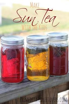 How to Make Sun Tea with Kids - Sun tea is a fun and easy recipe for kids to make, and they will love taste testing the tea they made.