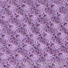 Shells Stitch Pattern, knitting pattern chart, Textured Stitches Patterns