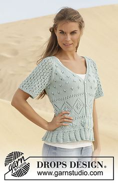 Light Lacy short sleeved cardigan for warmer weather. Free pattern.