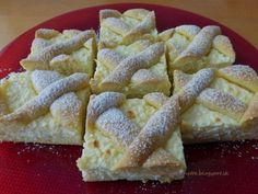 mřížkový koláč s tvarohem Sweet Recipes, Snack Recipes, Dessert Recipes, Cooking Recipes, Slovak Recipes, Czech Recipes, Hungarian Desserts, Hungarian Recipes, Cottage Cheese Desserts