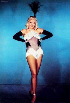 Jane Russell in a publicity still for Gentlemen Prefer Blondes, 1953.