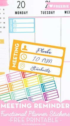 Free printable meeting planner stickers to keep track of all the important informations and organize your schedule. : Free printable meeting planner stickers to keep track of all the important informations and organize your schedule. Happy Planner Kit, Work Planner, Meeting Planner, Passion Planner, Free Planner, Planner Ideas, College Planner, Filofax, Printable Planner Stickers