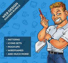 185+ Web Design Goodies from Best PSD Freebies - only $10! - MightyDeals