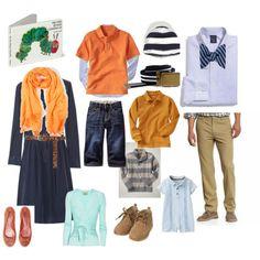 blue & orange outfits