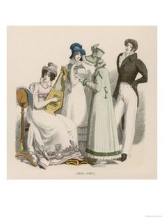 French and German Dress 1815-20 According to a Later Source Giclee Print at Art.com