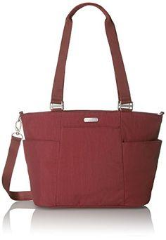 Women's Top-Handle Handbags - Baggallini Medium Avenue Tote Scarlet ** See this great product.