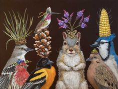 Vicki Sawyer | ACRYLIC | Where Did All The Party Snacks Go?