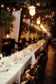 Outdoor dining:  Rehearsal dinner setting?