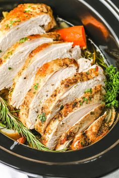 Crock Pot Turkey Breast (With a Herbed Butter Rub!) - Spend With Pennies Turkey Dinner Sides, Turkey Cooking Times, Easy Stuffing Recipe, Best Chili Recipe, Oven Roasted Turkey, Homemade Lasagna, Dinner Side Dishes, Main Dishes, Dinner Rolls Recipe