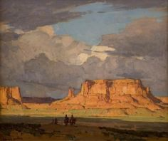 southwestart: Edgar Payne Red Mesa, Monument Valley