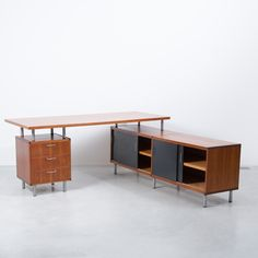Cees Braakman L-shaped desk Pastoe, 1950s, Netherlands