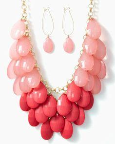 Ombré Briolette Necklace Set   Statement Jewelry   charming charlie