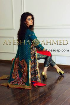 8 Ayesha Ahmed formal wear collection 2015 For Girls 11 Indian Wedding Outfits, Pakistani Outfits, Indian Outfits, Pakistani Clothing, Wedding Dress, Patiala Salwar, Anarkali, Lehenga, Indian Attire