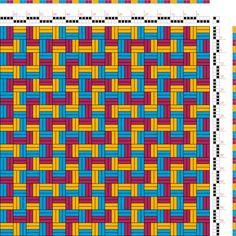 draft image: Figurierte Muster Pl. XXII Nr. 5 (a), Die färbige Gewebemusterung, Franz Donat, 2S, 2T