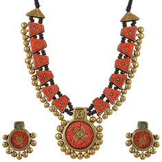 Terracotta Necklace Set #CraftShopsIndia