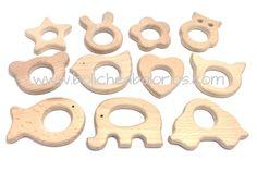 Mordedores de lactancia en madera para crear tus propios chupeteros