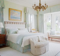 Gorgeous Master Bedroom After Styling.  Already perfect - I merely added flowers.