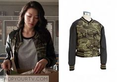 Kira Yukimura (Arden Cho) wears this camo bomber jacketin this week's episode of Teen Wolf. It is the AmbianceCamo Bomber Jacket – [...]