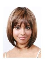 Chic Short Straight Layered Synthetic Wig With Bangs