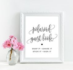 Polaroid guest book sign for wedding by MyColorMoodWedding on Etsy