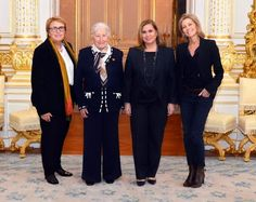 Luxarazzi:  Grand Duchess Maria Teresa met with Clair Chazal, French journalist; Gilberte Beaux, French business woman, and Marie-Jeanne Chavremont-Lorenzini, chairwoman of Great Talks, as part of Great Talks of 2014 series organized by Women in Business, November 25, 2014