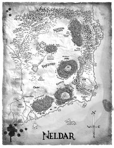 Neldar by Tim Paul—A Dance of Cloaks (Shadowdance series), by David Dalglish Fantasy Map Making, Fantasy World Map, Fantasy Places, Fantasy Books, Map Symbols, Middle Earth Map, Chicago Magazine, Map Icons, World Geography