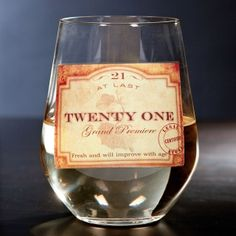Premier Stemless Wine Glass--for the 21-year-old! $14.95 #wine #stemlesswineglass