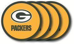 Green Bay Packers 4 PACK VINYL COASTER SET FROM DUCKHOUSE SPORTS #DuckhouseSports #KansasCityChiefs